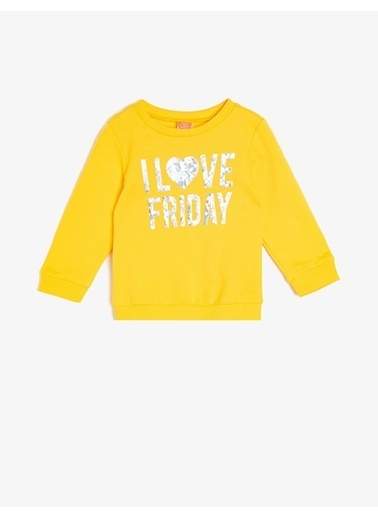 Koton Koton Sarı Sweatshirt Sarı